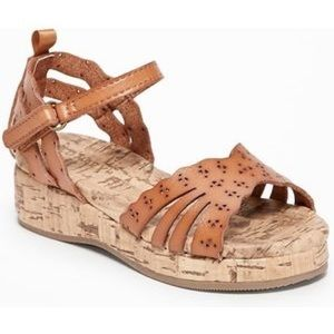 Old Navy Perforated Faux-Cork Wedge Sandals